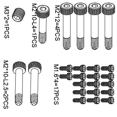 M2 Screw Kit Set