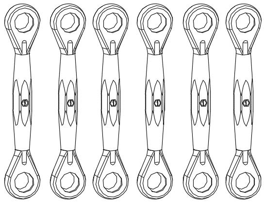 M1 Servo Linkage Rod Set